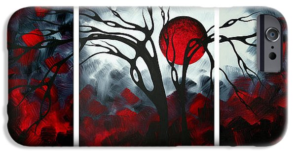 Abstract Gothic Art Original Landscape Painting Imagine By Madart IPhone Case by Megan Duncanson