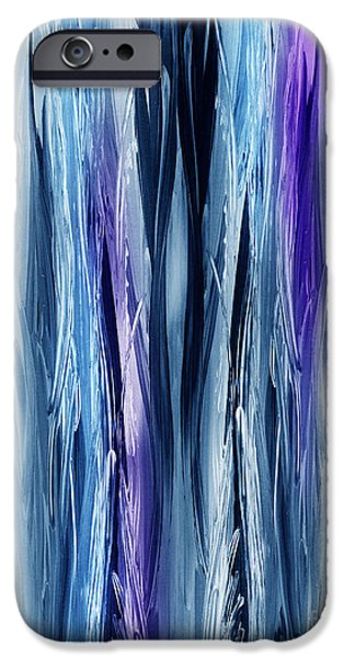 Abstract Waterfall Purple Flow IPhone Case by Irina Sztukowski