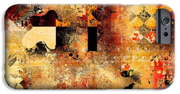 Abstracture - 103106046f IPhone Case by Variance Collections