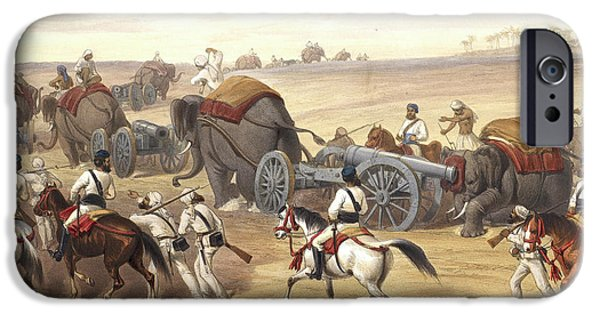 Advance Of The Siege Train IPhone Case by British Library
