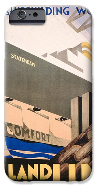 Advertisement For The Holland America Line IPhone Case by Hoff