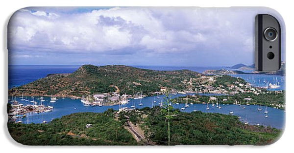 Aerial View Of A Harbor, English IPhone Case by Panoramic Images