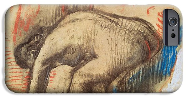 After Bath IPhone Case by Edgar Degas