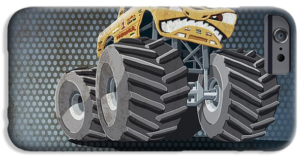 Aggressive Monster Truck Grunge Color IPhone Case by Frank Ramspott