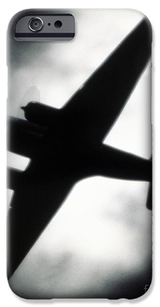 Airplane Silhouette IPhone Case by Tony Cordoza