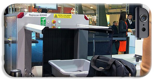 Airport Baggage X-ray Scanner. IPhone Case by Mark Williamson