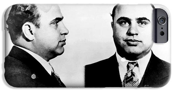 Al Capone Mug Shot IPhone Case by Edward Fielding