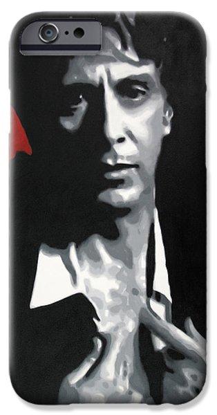 Al Pacino  IPhone Case by Luis Ludzska