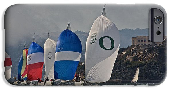 Alcatraz And Spinnakers IPhone Case by Steven Lapkin