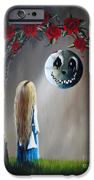 Alice In Wonderland Original Artwork - Alice And The Beautiful Nightmare IPhone Case by Shawna Erback