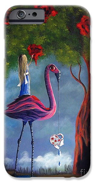 Alice In Wonderland Artwork  IPhone Case by Shawna Erback