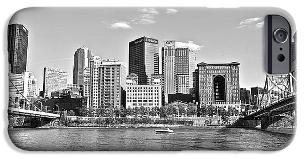 Allegheny River Pittsburgh IPhone Case by Frozen in Time Fine Art Photography