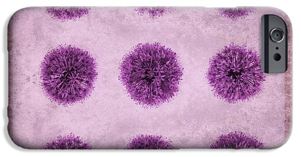 Allium Hollandicum Purple Sensation Pattern IPhone 6s Case by Tim Gainey