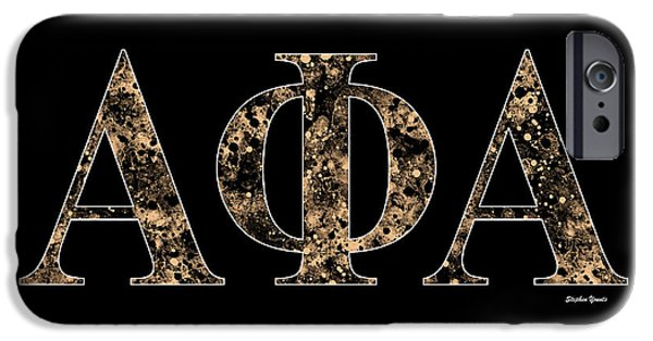 Alpha Phi Alpha - Black IPhone Case by Stephen Younts