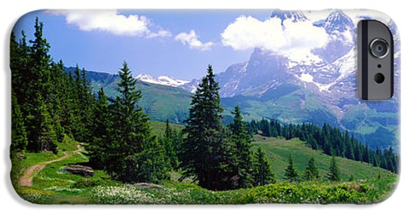 Alpine Scene Near Murren Switzerland IPhone Case by Panoramic Images