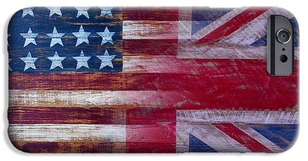 American British Flag IPhone Case by Garry Gay