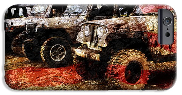 American Jeeps IPhone Case by Luke Moore