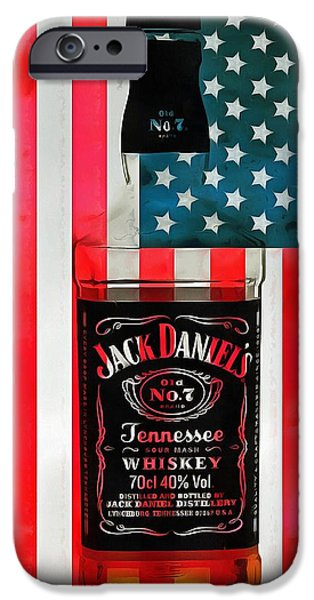 American Whiskey Jack Daniels IPhone Case by Dan Sproul