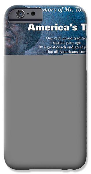 America's Team Poetry Art IPhone 6s Case by Stanley Mathis