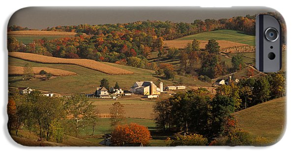 Amish Farm In An Ohio Valley In The Fall IPhone Case by Ron Sanford