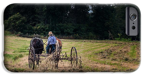 Amish Farming IPhone Case by Tom Mc Nemar