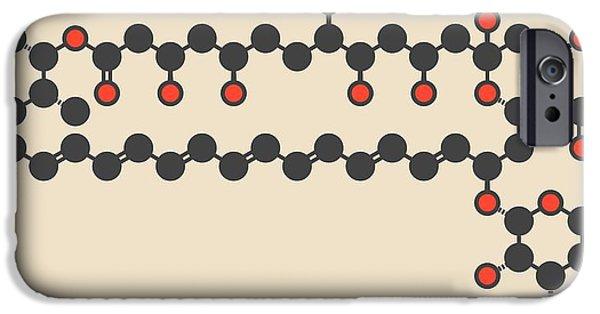 Amphotericin B Antifungal Drug Molecule IPhone Case by Molekuul