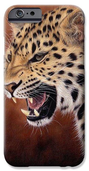 Amur Leopard Painting IPhone 6s Case by Rachel Stribbling