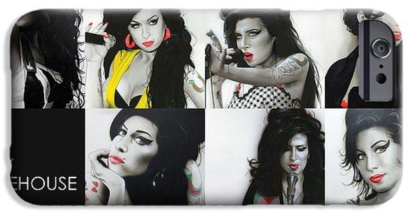 Amy Winehouse - 'amy Eternal' IPhone 6s Case by Christian Chapman Art