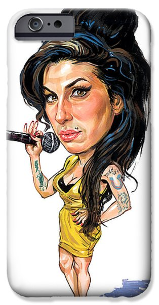 Amy Winehouse IPhone Case by Art