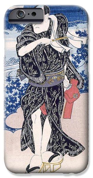An Actor IPhone Case by Utagawa Kunisada