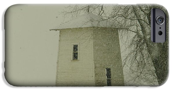 An Old Bin In The Snow IPhone Case by Jeff Swan