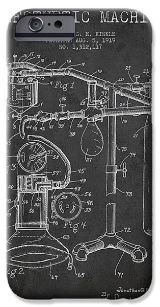 Anesthetic Machine Patent From 1919 - Dark IPhone Case by Aged Pixel