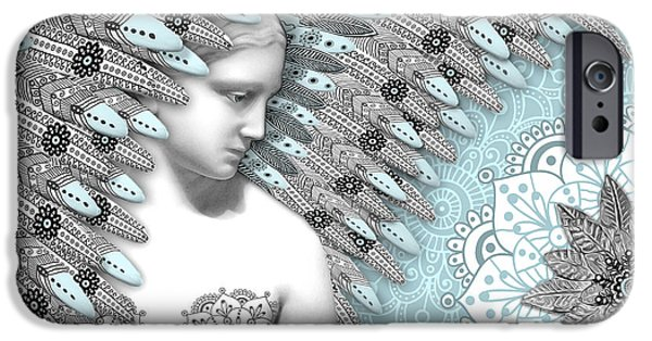 Angelica Hiberna - Angel Of Winter IPhone Case by Christopher Beikmann