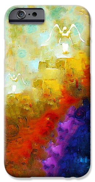 Angels Among Us - Emotive Spiritual Healing Art IPhone Case by Sharon Cummings