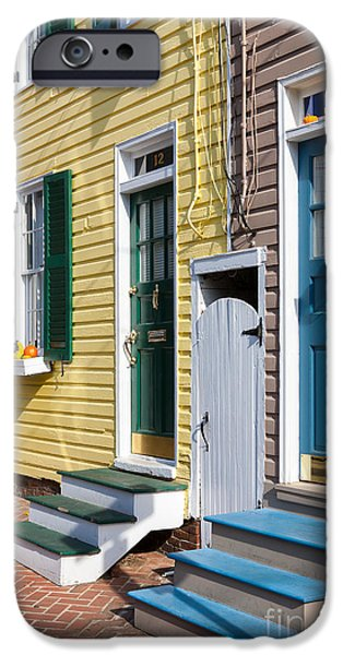 Annapolis Historic Homes I IPhone Case by Clarence Holmes