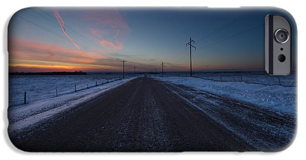 another Cold Road to Nowhere IPhone Case by Aaron J Groen