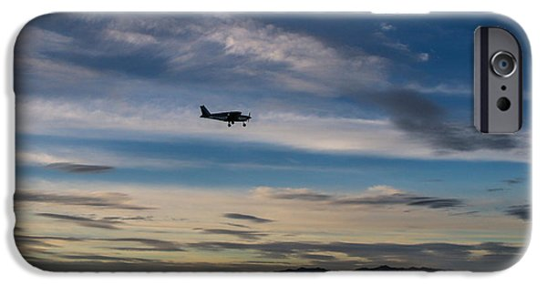 Antelope Island - Lone Airplane IPhone Case by Ely Arsha