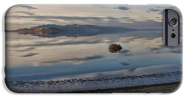 Antelope Island - Lone Tumble Weed IPhone Case by Ely Arsha