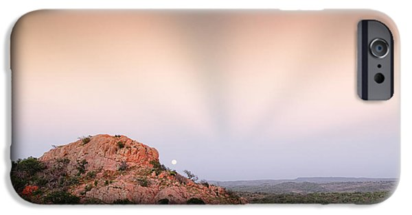 Anticrepuscular Rays Over Turkey Peak - Enchanted Rock State Natural Area Texas Hill Country IPhone Case by Silvio Ligutti