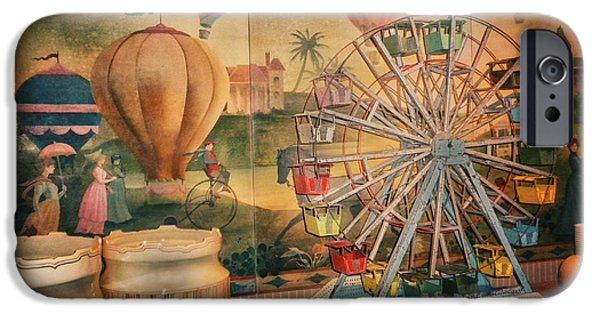 Antique Ferris Wheel Walt Disney World IPhone Case by Thomas Woolworth