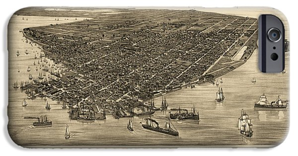Antique Map Of Key West Florida By J. J. Stoner - 1884 IPhone Case by Blue Monocle