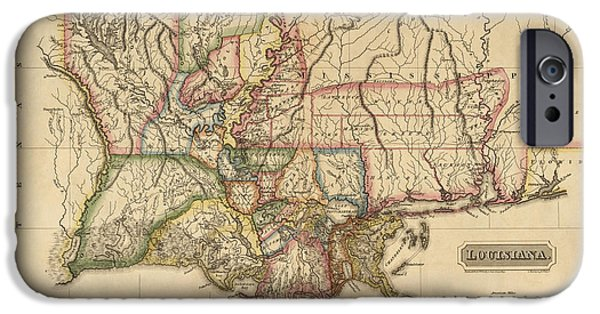 Antique Map Of Louisiana By Fielding Lucas - Circa 1817 IPhone Case by Blue Monocle