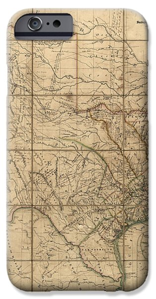 Antique Map Of Texas By John Arrowsmith - 1841 IPhone 6s Case by Blue Monocle