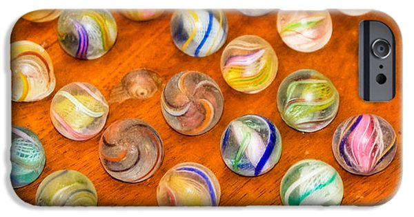 Antique Marbles - Vintage Toys IPhone Case by Colleen Kammerer