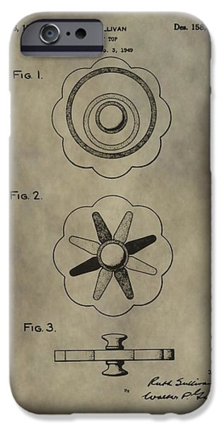 Antique Toy Top Patent IPhone Case by Dan Sproul