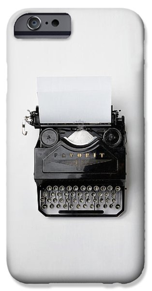 Antique Typewriter IPhone Case by Mountain Dreams