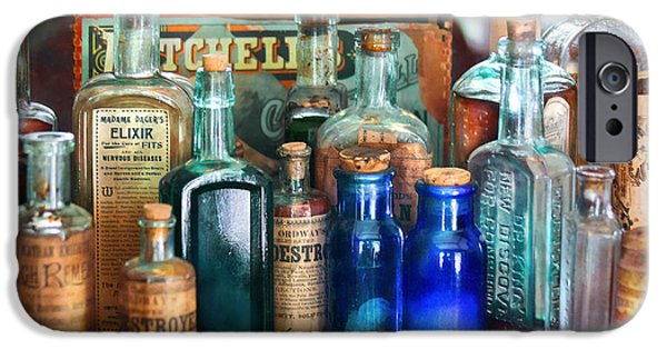 Apothecary - Remedies For The Fits IPhone Case by Mike Savad