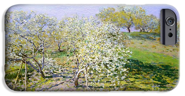 Apple Trees In Bloom 1873 IPhone Case by Claude Monet