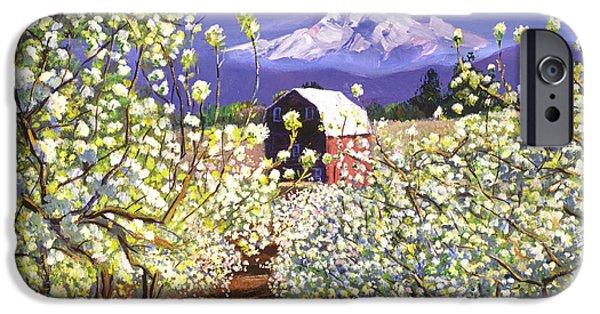 Appleblossoms Mount Hood IPhone Case by David Lloyd Glover