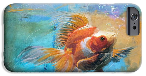 Aqua Gold IPhone 6s Case by Catf